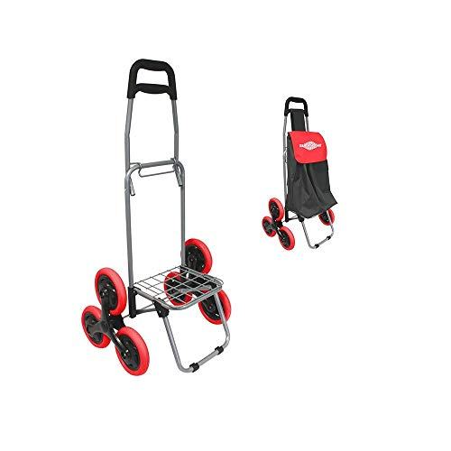 Stair´n Go Cart klappbarer Einkaufs Trolley mit 6-Rad-Mechanismus, klappbar Tragkraft 20 kg GRATIS Tasche dazu für alle - Original aus TV-Werbung
