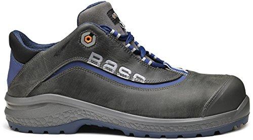 BASE BE-JOY Sicherheits-Halbschuh Sicherheits-Schuh Arbeitsschuh S3 SRC - Reflexstreifen - blau - Größe: 45
