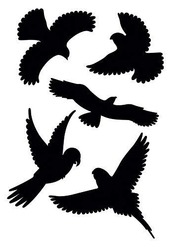 Gardigo Vogelschutz Aufkleber I Vogelsilhouetten I für Fenster, Türen, Wintergärten, Gewächshäuser I Fensterschutz vor Vogelschlag -