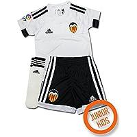 adidas H Minikit - Conjunto Valencia FC 2015/2016 unisex, color blanco/negro, talla 104