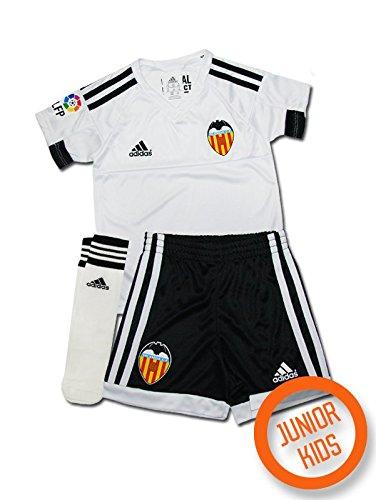 adidas Kinder Trainingsanzug Valencia H Minikit Weiß/Schwarz, 104 (Anzüge Fußball Für Kinder)