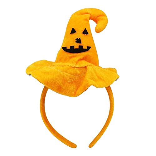 Gesicht Kostüm Smiley - WSJDE 1 stücke Nette Halloween Haarbänder Skelette Fledermäuse Flügel Kürbis Headress Xmas Party Dekorationen Kinder Kopfschmuck Up DekorationBSmiley Gesicht