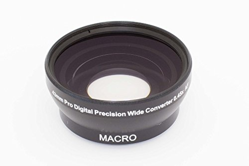 vhbw Weitwinkel Vorsatzlinse Objektivgewinde 43mm, Faktor 0,45x für Kamera Samsung NX Lens 16-50 mm F3.5-5.6 Power Zoom ED OIS.