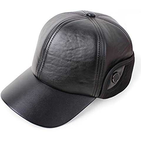 Hombres de mediana edad y mayores con sombreros otoñales e invierno/Gorra de béisbol/ sombrero caliente del oído/Antiguo sombrero/sombrero de cuero M/Sombreros de