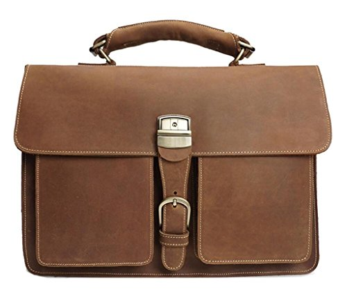 Great Strange Herren Vintage-Handtaschen, Aktentaschen, einzelne Umhängetaschen, Business Messenger Bag, Einkaufen / Reisen, verschleißfest und langlebig , light brown light brown