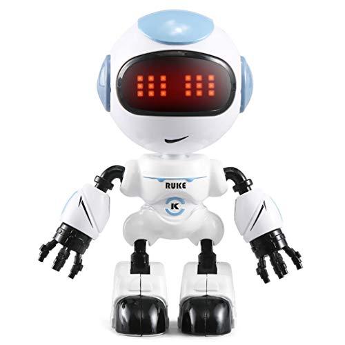 melysEU Niños Robot Juguete Control Pequeños Touch Sensing LED Eyes Smart Voice Robot Niños Educación Juguetes (Azul)