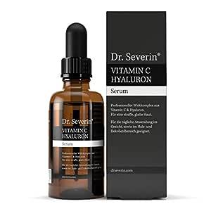 50ml Ultra Serum: Dr. Severin® Vitamin C Hyaluron Serum Hochkonzentriert I Hyaluronsäure-Serum Mit Vitamin C I Anti-Falten Booster Mit Hochmolekularer Hyaluronsäure I Vor Dem Ausgehen Anwenden