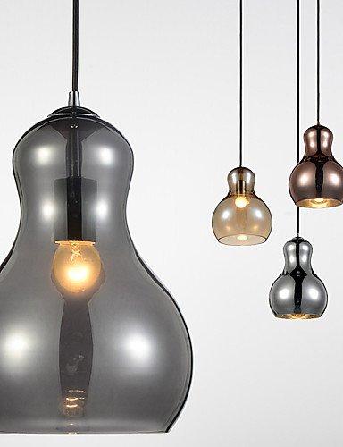 Iluminación jiaily con forma de calabaza/1/lámpara colgante moderna simplicidad/Luz/golden/cromo/oro rosa/Ámbar/gris ahumado/vidrio &Acero al carbono , 220-240