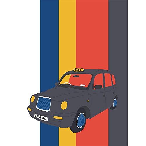 Wee Blue Coo LTD Edinburgh Transport Taxi Unframed Wall Art Print Poster Home Decor Premium -