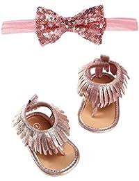 fb15981a4e5 Zapatos de Primeros Pasos para Bebé Niñas Otoño Invierno PAOLIAN Sandalias  Suela Blanda con Borlas Bautizo Conjuntos de Calzado +…