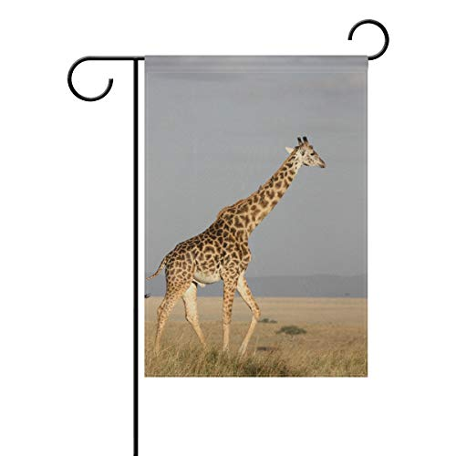 Lennel Gartenhof Heimflagge Banner {Spac} Zoll Giraffe Dekorative Hausflagge für Hochzeit Party Zuhause Indoor Outdoor Decor, Mehrfarbig, 12x18(in)