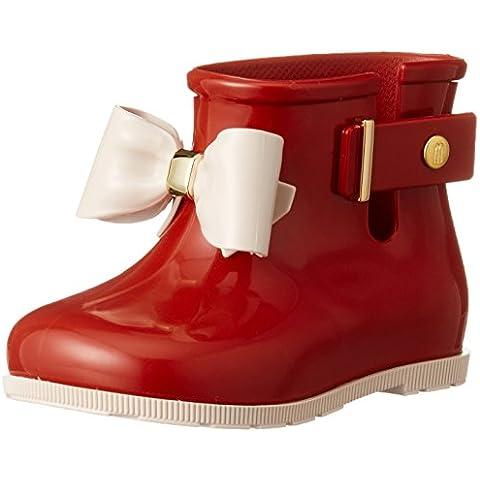 MINI MELISSA - Botín de lluvia rojo, realizado en plástico MELFLEX, una goma perfumada, biodegradable y ecol?gica, niña,