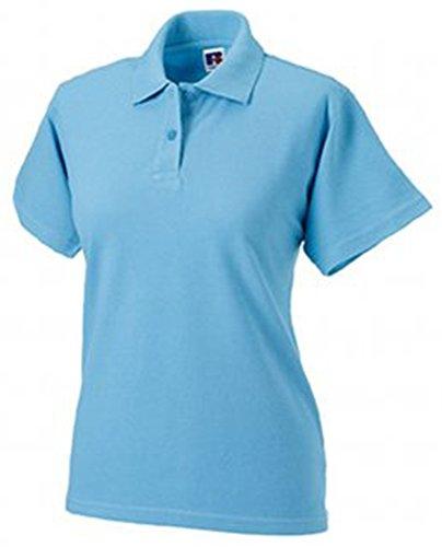 Russell donna in cotone-piquet Polo a maniche corte Blu