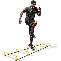 Sklz Elevation Ladder 2 in 1 - Herramienta para coordinación y obstáculos de fútbol