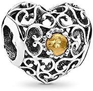 Pandora Women 9 k (375) Silver Yellow Chrysoprase (791784CI)