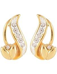 Estelle Gold Plated Stud Earrings For Women (Banarasia512)