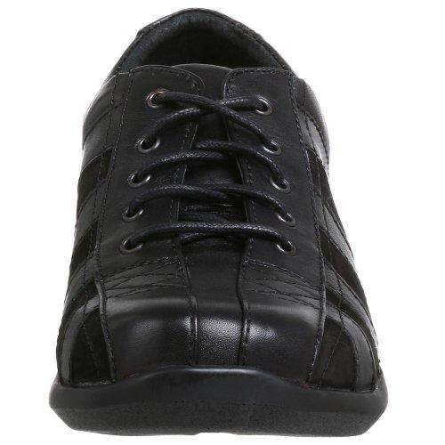 Aetrex WomenÂ's Wide Essence Oxford E731WW055, Chaussures à lacets femme Black