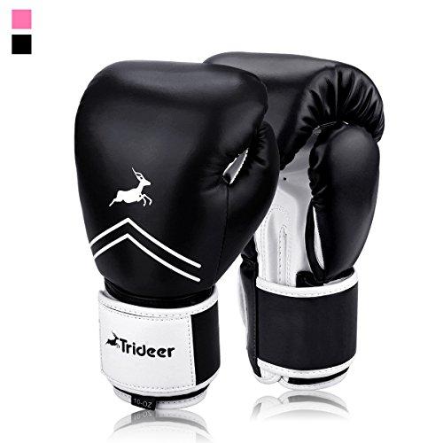Trideer Boxhandschuhe für MMA Training Boxsack Sandsack Kampfsport Taekwondo Sparring Herren Damen Lila Pro Roller Bars