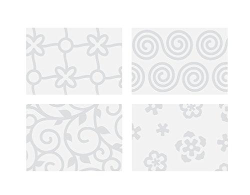Tescoma 633084 Fogli Decorativi per Pasta di Zucchero, 4 Decori Fiore, 41 x 25 cm