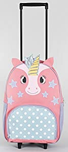 Pink & Purple Unicorn Travel Wheeled Suitcase