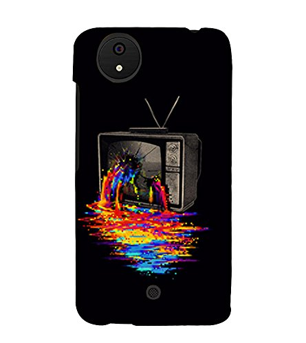Broken Television 3D Hard Polycarbonate Designer Back Case Cover for Micromax Canvas Android A1 AQ4501 :: Micromax Canvas Android A1  available at amazon for Rs.389