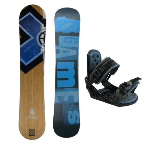 X-GAMES ''Wood'' Freeride Snowboard 147 cm - Vollholzkern + Bindung Nidus