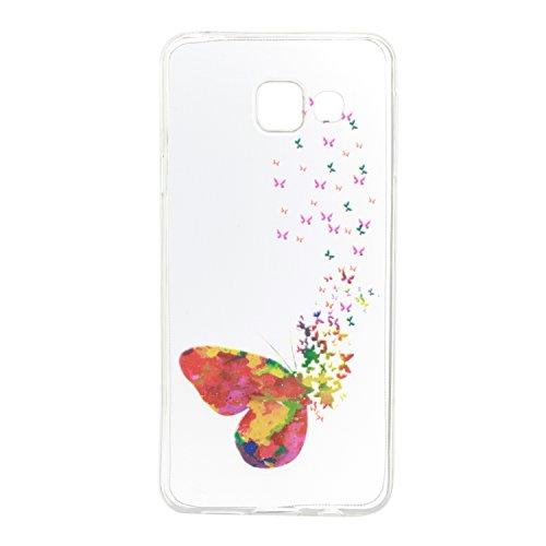Qiaogle Telefon Case - Weiche TPU Case Silikon Schutzhülle Cover für Apple iPhone 5 / 5G / 5S / 5SE (4.0 Zoll) - HX51 / Ostrich + Flower HX38 / Flying butterflies