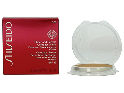 Sheer Finish Compact Foundation (Shiseido Sheer und Perfect Compact Refill unisex, Puder Foundation 10 g, Farbnummer: O60 deep Ochre Refill, 1er Pack (1 x 0.208 kg))