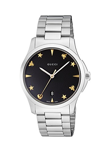 Gucci Unisex-Adult Analogue Classic Quartz Watch with Stainless Steel Strap YA1264029