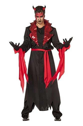 Herren Kostüm Teufel Satan Luzifer Halloween Karneval Fasching Gr.48