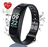 Smart Watch Pedometro Cardio Impermeabile Bambino Sport Smart Watch Cardio Frequency Meter Walk per Android iOS iPhone Samsung Huawei (Nero)