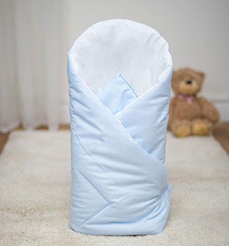 Baby Wickeltuch/Decke 80x 80cm–Uni blau