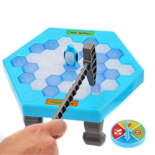 RUNI MO Speichern Sie Pinguin auf EIS Spiel Icebreaker Desktop Vaterschaft interaktives Spiel - Break Ice Block Pinguin Trap Intelligence Kinderspielzeug (Blue, OneSize)