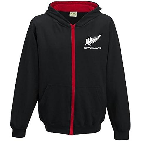 Kids retro nuova Zelanda Rugby con cappuccio e (Nuova Zelanda Rugby Shirts)