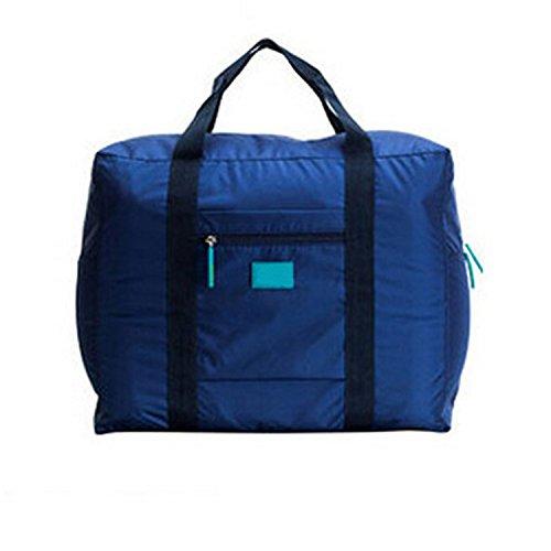 KAIKSO-IN wasserdichtem Nylon faltbare Reisetasche mit großer Kapazität Gepäcktaschen Navy
