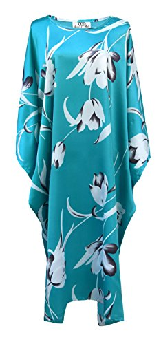 Boubou chinois, turquoise - taille unique