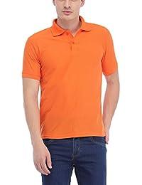 Trendy Trotters Orange Polo Cotton T-Shirt