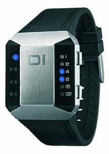 THE ONE Split Screen SC115B3 Men's Black Silicone Strap Watch