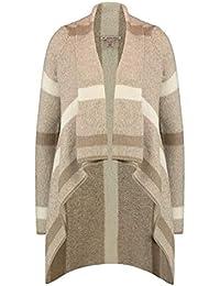 f711bc654f Anna Field offene Strickjacke für Damen - Kuscheliger Longcardigan - Jacke  mit Schalkragen - Longstrickjacke elegant - Strickmantel ohne…