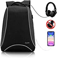 iCozzier 15.6 Inch Laptop Backpack with USB Charging Port, Multi-Space Lightweight Reflective Stripe Travel Ba