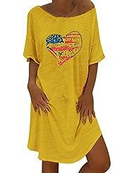 GNYD-Vestidos Fiesta Mujer Verano 2019 Maxi Suelto De Un Solo Hombro Camisa De Color Puro Blusa De Corte Bajo Sexy