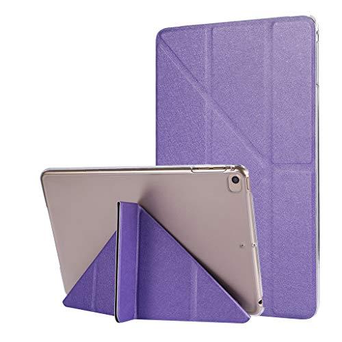 Hunpta@ Hüllen für Tablets,für iPad Mini 5 2019 Mini 4 7.9inLeder schlanke Klappständer gemalt Fall Deckung Pad/Tablet-Hülle (Lila Ipad Deckung)