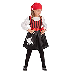 Carnival Toys disfraz piratessa para niña para niños, Multicolor, Talla única, 66016