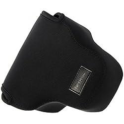 First2savvv QSL-RX10B-01 noir étui housse appareil photo numérique pour Sony Cyber SHOT DSC HX400V HX400