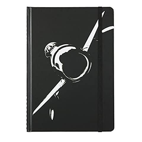 F86 Sabre Jet - Military Aviation A5 Hardback Notebook - Basic Six