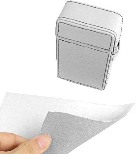 Hochwertiges in Handarbeit gefertigtes Luxus Zigarettenetui aus feinstem Top Grade Rindsleder mit Kontrastnähten (weiß)