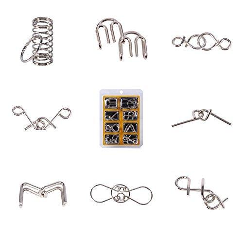 (1/Set Bildungs-Spielzeug-Faden Metall IQ Puzzle Geist Test Geist Puzzle-Spiel für Erwachsene und Kinder von Spielzeug)