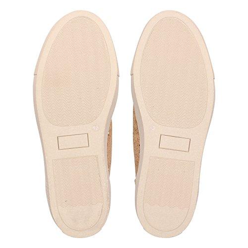 ZWEIGUT® -Hamburg- echt #404 Herren High-Top Kork Schuhe Freizeit Sneaker vegan und nachhaltig, Schuhgröße:47, Farbe:sand-kork - 6