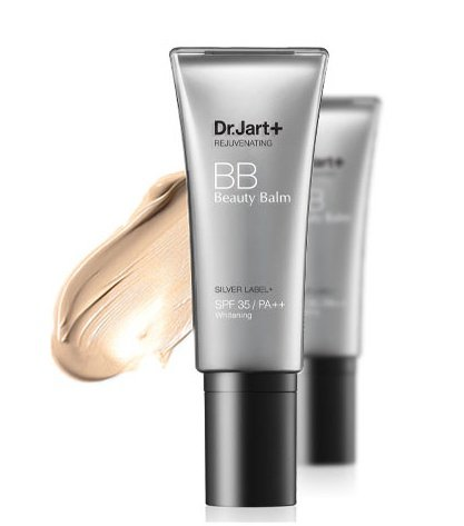 Korean Cosmetics, Dr. Jart Basic +, Silver Label + BB 40 ml (BB Cream, High Coverage, Whitening, protección UV spf35/PA + +) [001kr] by Dr. Jart Basic