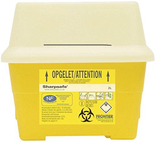 Sharpsafe Behälter für fhshar33Collector Praxis Nadel, 2l Fassungsvermögen, 178mm x Höhe 195mm x Länge 120mm Breite, Gelb (50Stück)